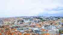 Panorama na Lizbonę z Castelo de Sao Jorge