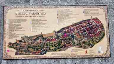 Mapa części Buda, Budapeszt - Węgry
