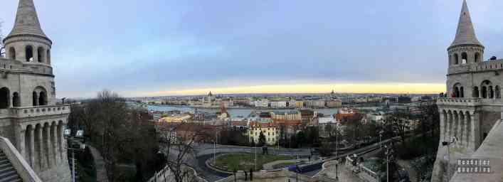Widok z Baszty Rybackiej, Budapeszt - Węgry