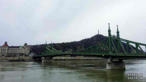 Most Wolności i Góra Gellérta w Budapeszcie - Węgry