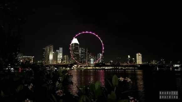 Widok z Gardens by the Bay - Singapur