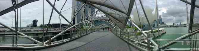 Helix Bridge, Marina Bay - Singapur