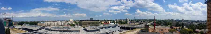 Widok z EC1 Łódź
