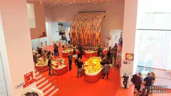 Strefa czerwona w Lego House - Billund, Dania