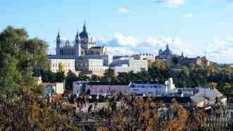 Katedra Almudena, Punkt widokowy na górze Principe Pio, Madryt - Hiszpania