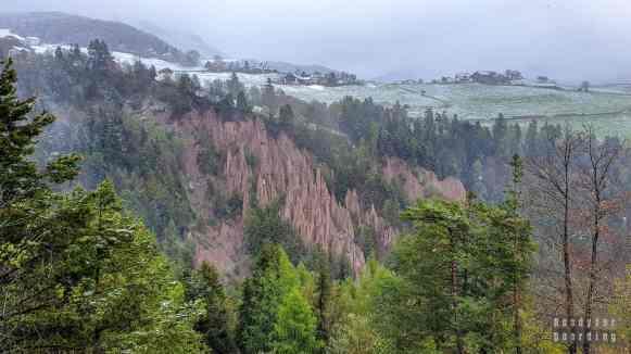 Piramidy ziemskie w Ritten - Tyrol Południowy - Włochy