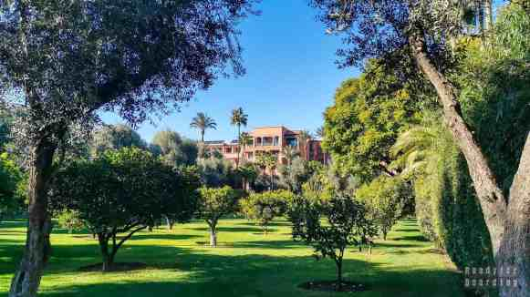 Ogród przy hotelu La Mamounia w Marrakeszu