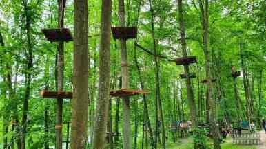 Park Linowy Wiewióra w Giżycku, Mazury