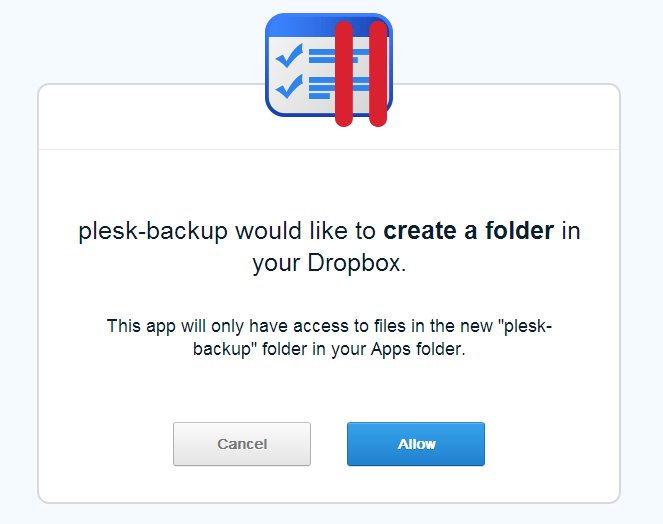 Dropbox Backup Extension