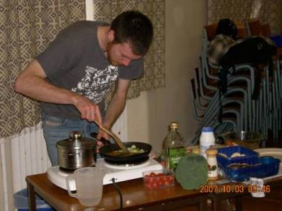 Science chef in action