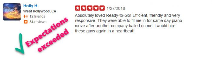 Trusted reviews moving service