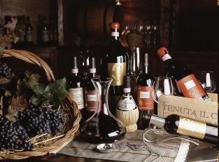 l'uva, bottiglie, fiasche e packaging vino