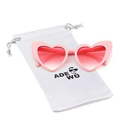 pink sunglasses heart shaped
