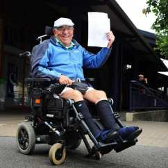 Wheelchair Express Red And Blue Chair Disabled Pensioner Handed 800 First Class Train Tickets