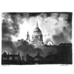 St Paul's, in the Blitz by Stephen Wiltshire
