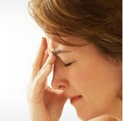 Woman suffering a brain aneurysm