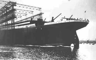 Launching of Titanic