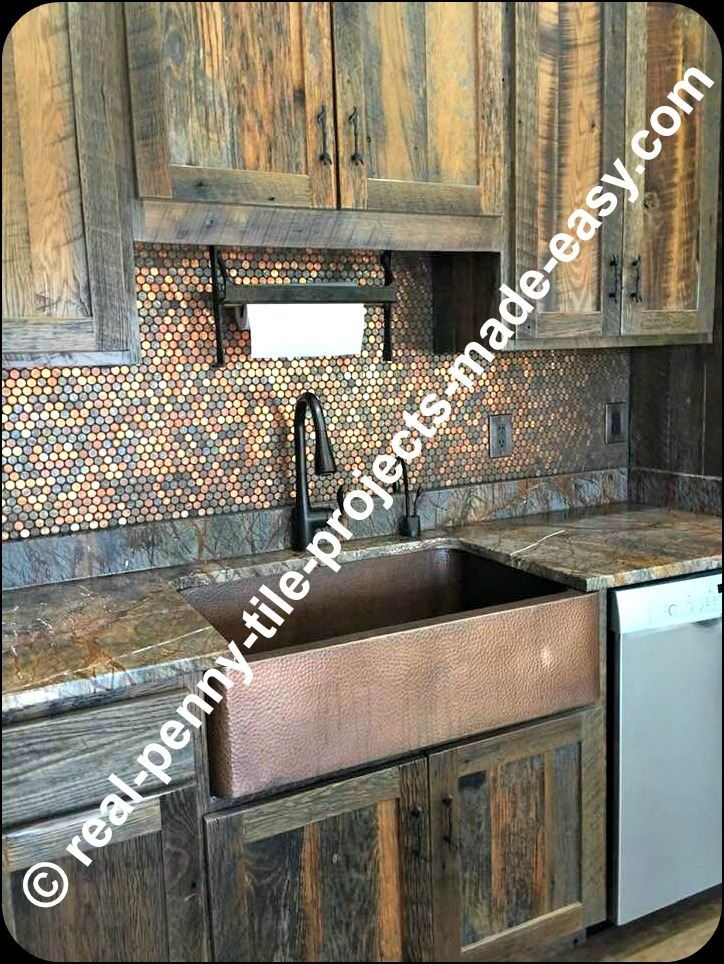 real penny tile projects made easy