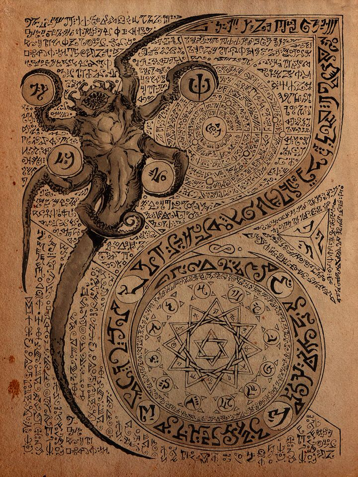 Une page du Nécronomicon par Daniel Govar