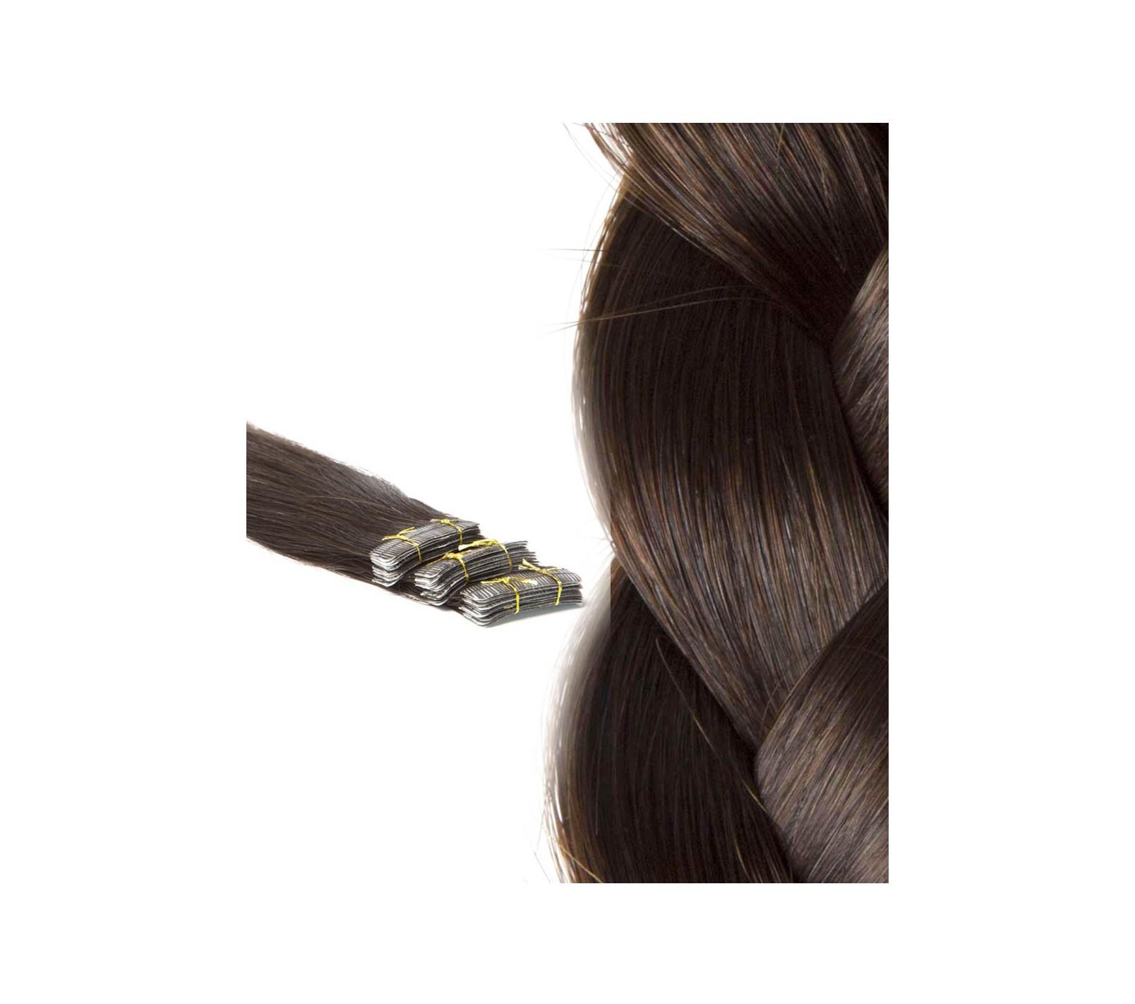 Tapes Extensions zur Haarverlngerung fr glattes Haar