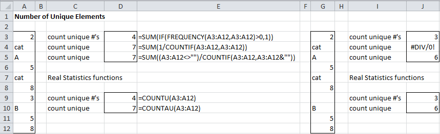 Built-in Excel Functions | Real Statistics Using Excel