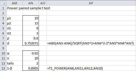 how to make a paired t test on excel