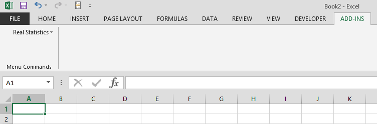 Accessing Real Statistics Tools | Real Statistics Using Excel