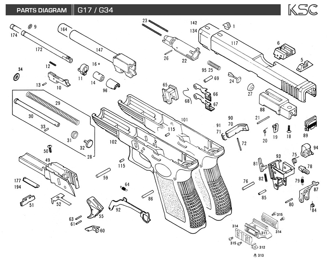 Glock 27 Exploded Part Diagram