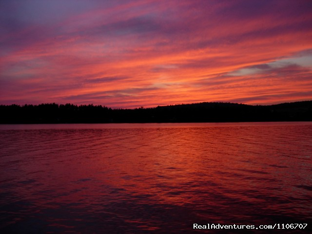 Quiet Waterfront Thompson Lake ME Oxford Maine Vacation Rentals  RealAdventures