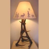 Elk Antler Table Lamp