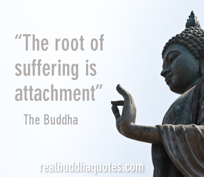 Real Buddha Quotes Interesting Buddhist Quotes On Attachment Picture