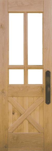 Crossbuck Door Construction & Dutch Door Exterior