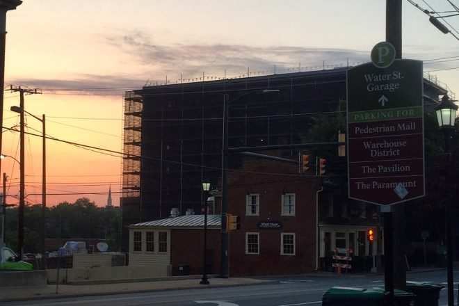 New hotel at corner of West Main & McIntire