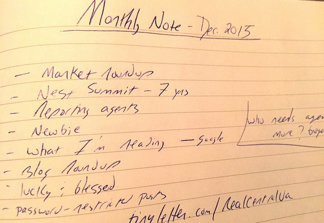 December 2015 Monthly Note