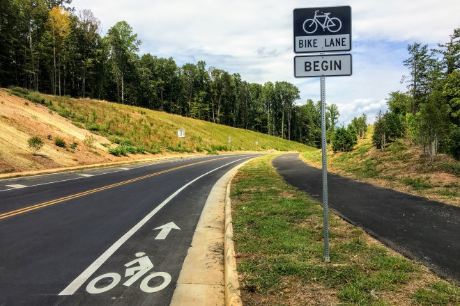 Riding a Bicycle from Hollymead to Downtown Charlottesville