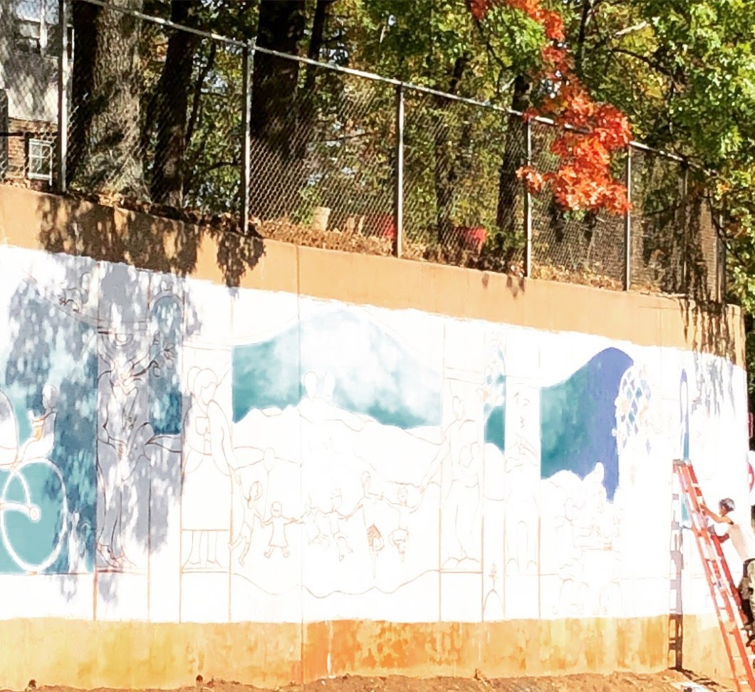 Mural on Barracks Road