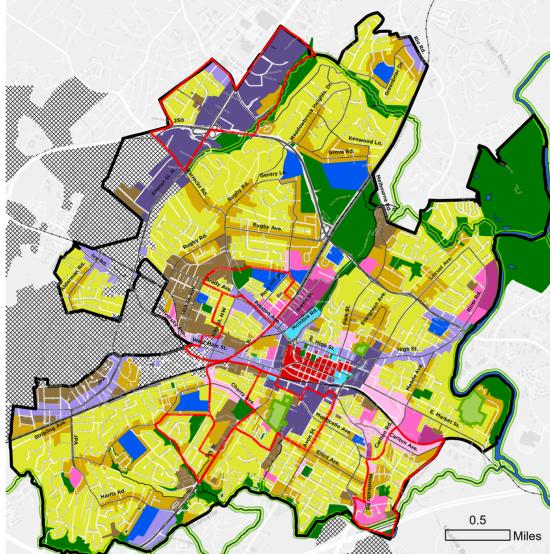 Charlottesville Draft Future Land Use Map-8-21-2021