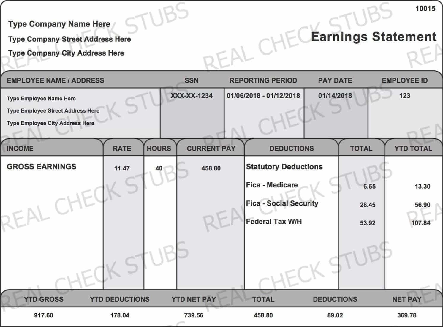 hight resolution of real paycheck stubs create stub