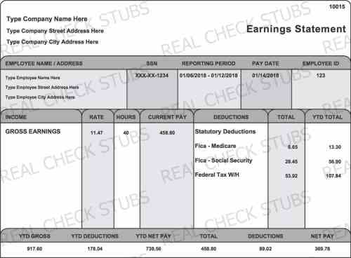 small resolution of real paycheck stubs create stub