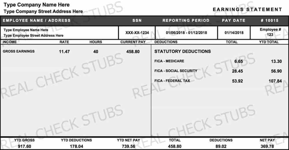 medium resolution of real paycheck stubs create stub