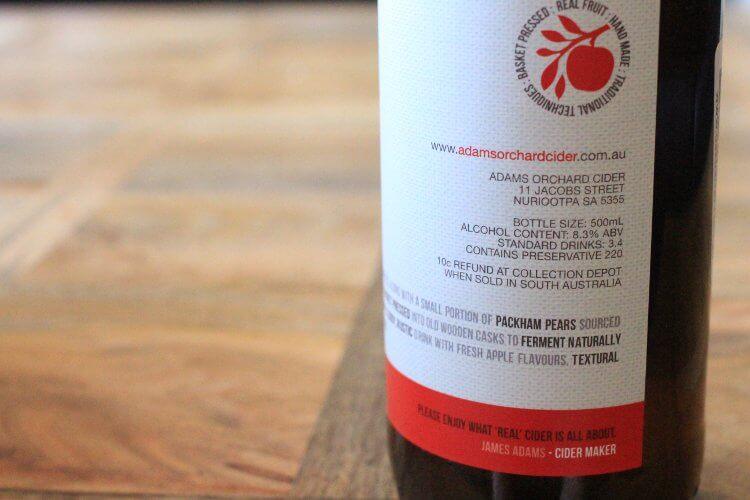 Adams Orchard Cider Bottle