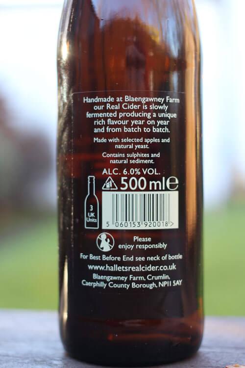 Hallets Real Cider Label
