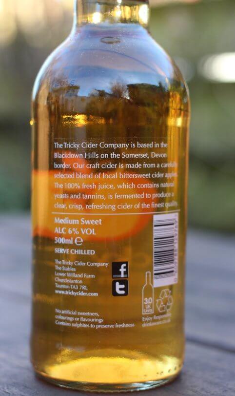 Tricky Medium Sweet cider bottle