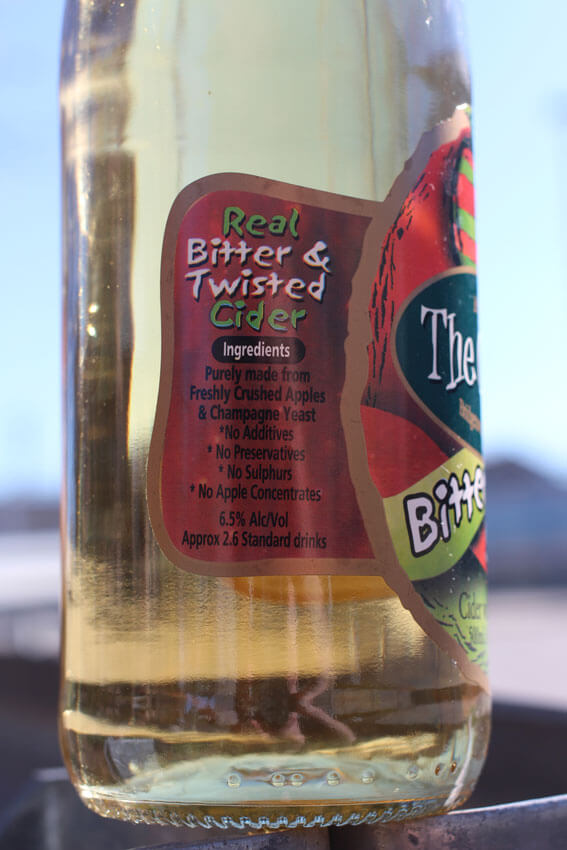 Bitter Sweet Cider Ingedents list