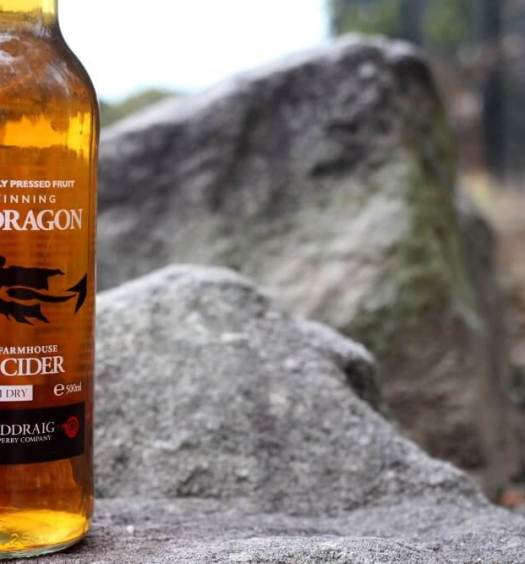 Gwynt Y Ddraig Black Dragon Cider bottle