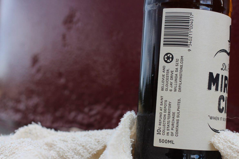Dr Pilkington's Miracle Cider label