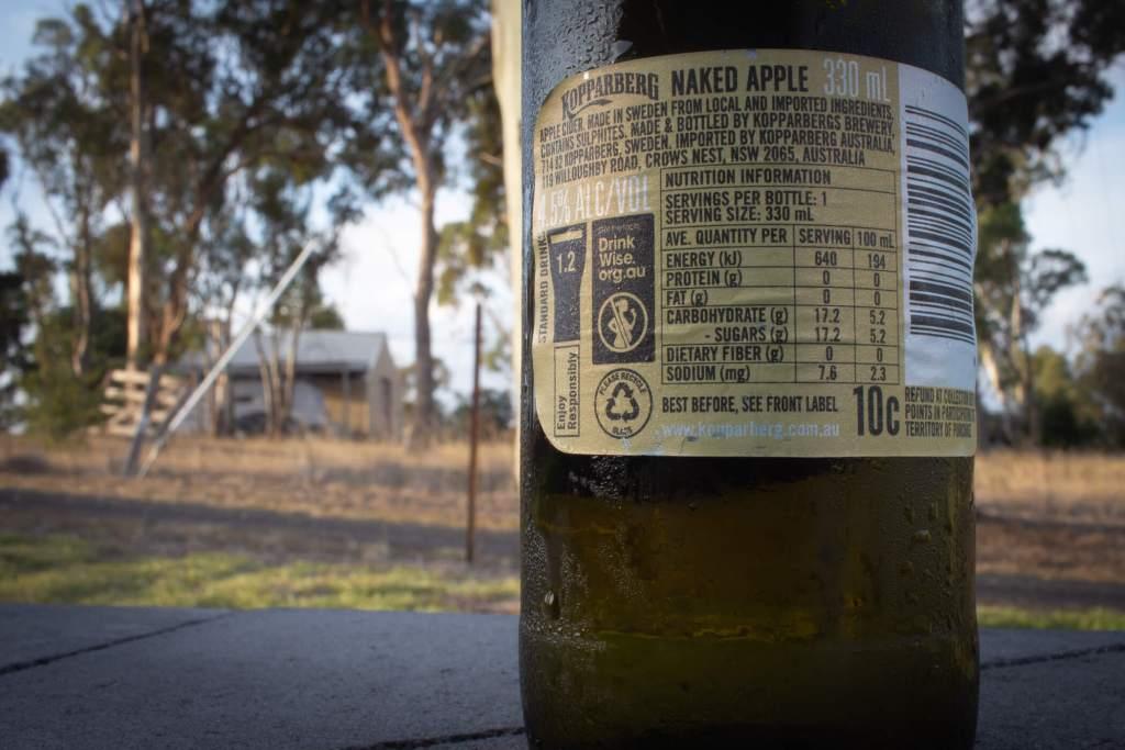 Kopparberg Naked Apple Cider bottle label