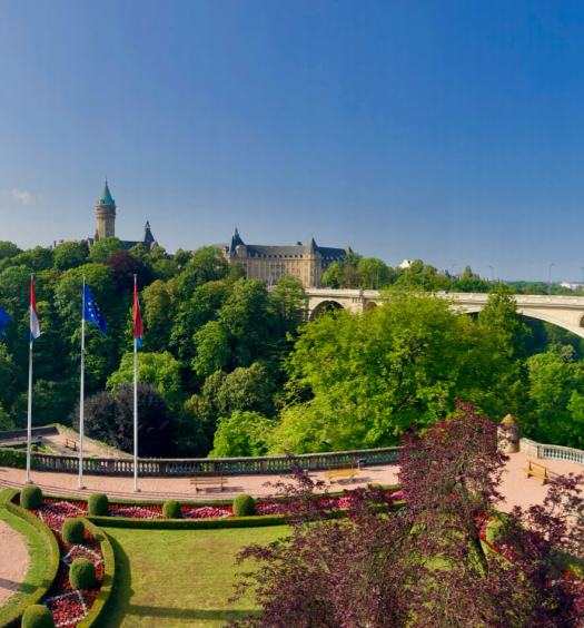 Luxembourg city skyline