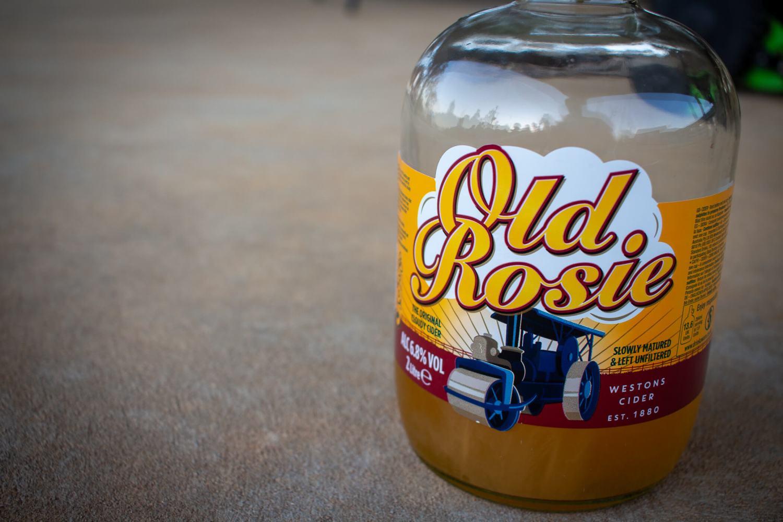 2 Liter bottle of Weston's Old Rosie