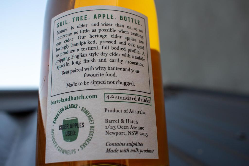 Hatch And Barrel Cider Review